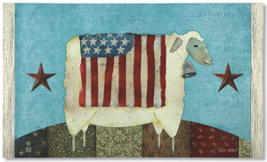 Let Freedom Ring Sheep Doormat | Sturbridge Yankee Workshop