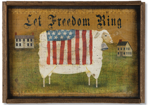 Let Freedom Ring Sheep Print | Sturbridge Yankee Workshop
