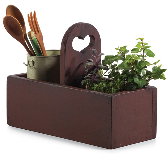 Heart Handle Wood Tote