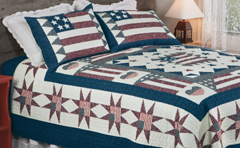 Old Glory Quilt Set & Throw | Winter 2018 | Sturbridge Yankee Workshop