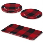 Red Check Melamine Plates and Serving Tray | Kitchen Accessories | Sturbridge Yankee Workshop