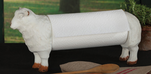 Sheep Paper Towel Holder | Sturbridge Yankee Workshop