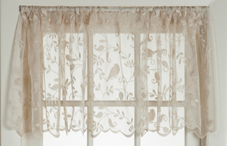 Garden Birds Lace Valance | Curtain Collections | Sturbridge Yankee Workshop