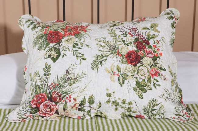 Jardin Rouge Quilted Sham