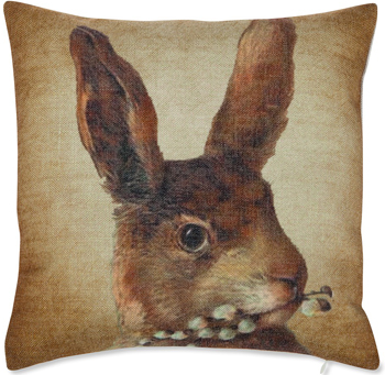 Bunny With Pussywillows Pillow | Sturbridge Yankee Workshop