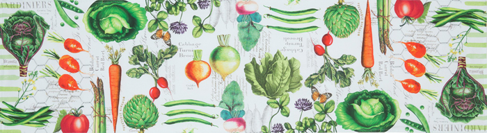 Vegetable Garden Table Runner | Sturbridge Yankee Workshop