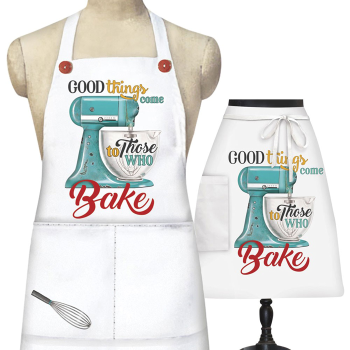 Whimsical Stand Mixer Designed Aprons