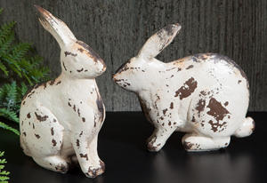 Decorative White Rabbit Set | Sturbridge Yankee Workshop