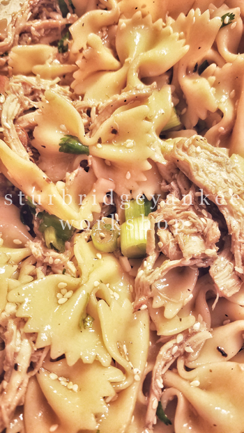 Sesame & Chicken Pasta Salad Recipe | Sturbridge Yankee Workshop