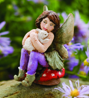 Honey Bunny Miniature Garden Fairy | Sturbridge Yankee Workshop