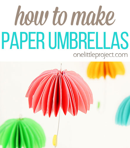 Paper Umbrellas | One Little Project at a Time | Spring DIY