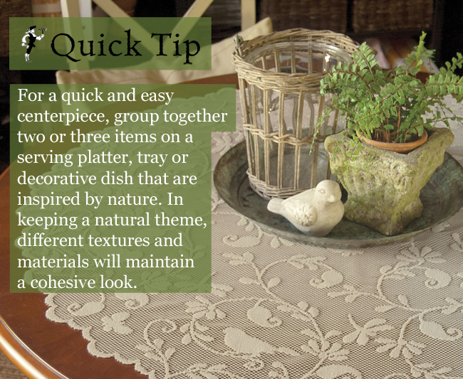Quick Tip: Natural Centerpieces | Sturbridge Yankee Workshop