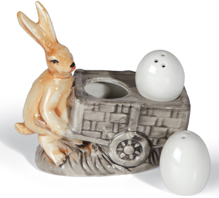 Rabbit with Eggs Salt & Pepper Shakers | Sturbridge Yankee Workshop