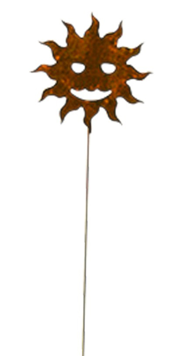 Rusted Sun Garden Stake | Sturbridge Yankee Workshop