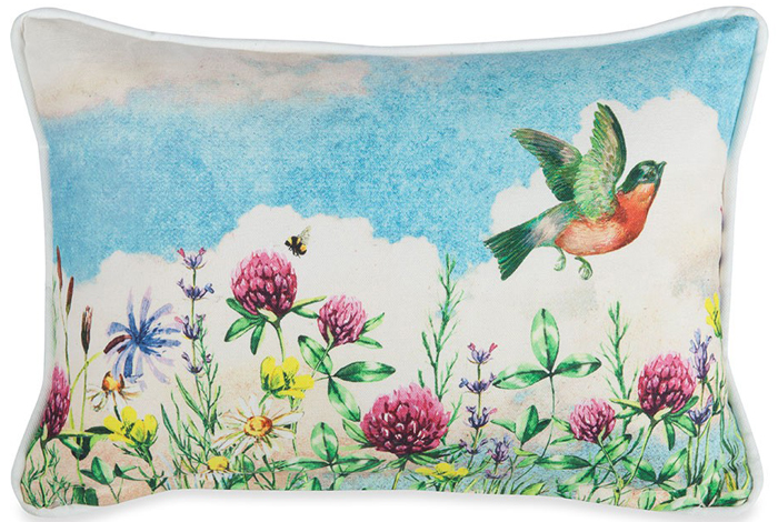 Bird and Wildflowers Pillow | Sturbridge Yankee Workshop