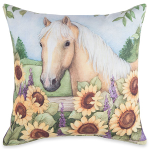 Flowers on the Farm Pillow | Susan Winget | Sturbridge Yankee Workshop