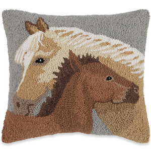 Mare and Foal Pillow | Susan Winget | Sturbridge Yankee Workshop