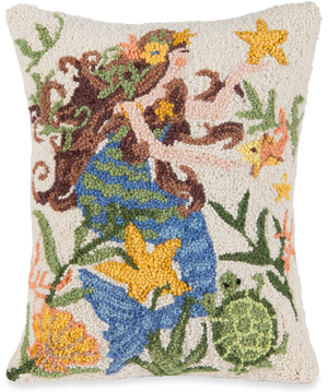 Mermaid and Friends Pillow | Susan Winget | Sturbridge Yankee Workshop