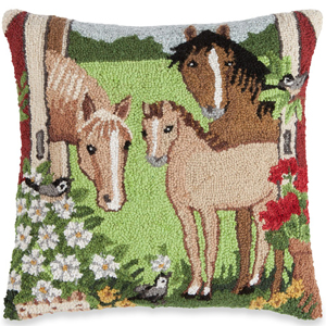 Springtime on the Farm Pillow | Susan Winget | Sturbridge Yankee Workshop