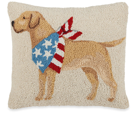Yellow Lab American Dog Pillow | Mary Lake Thompson | Sturbridge Yankee Workshop