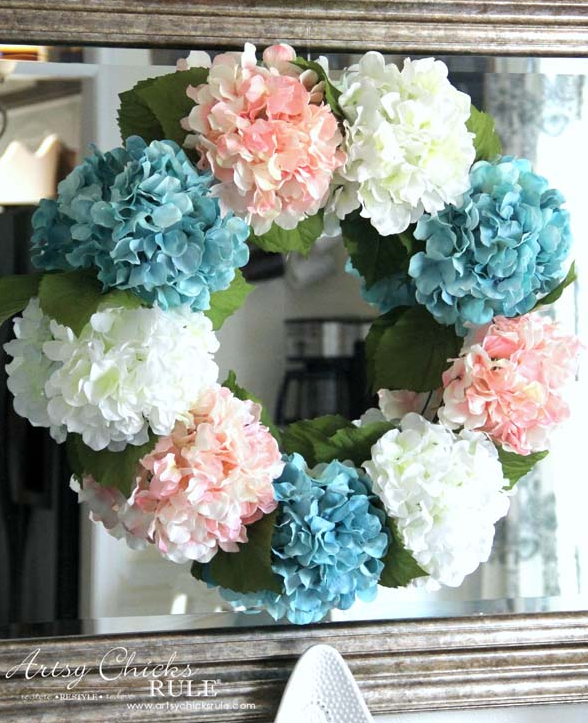 DIY Hydrangea Wreath | Artsy Chicks Rule | Summer DIY