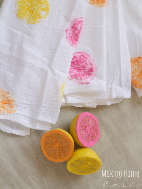 DIY Painted Tea Towel | Making Home Base | Summer DIY