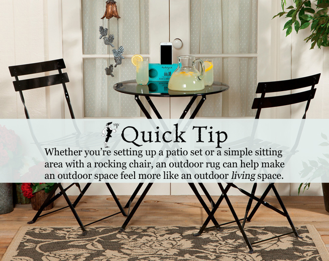 Quick Tip: Outdoor Rugs | Sturbridge Yankee Workshop