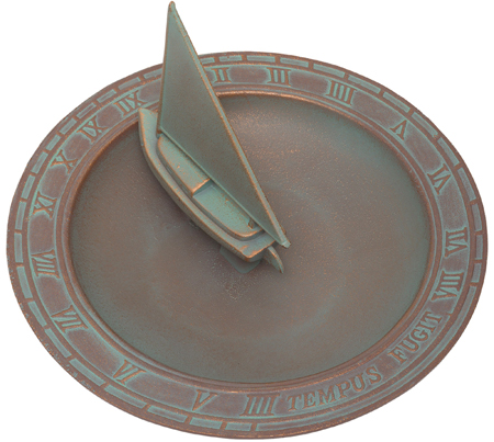 Sailboat Sundial Birdbath | Sturbridge Yankee Workshop
