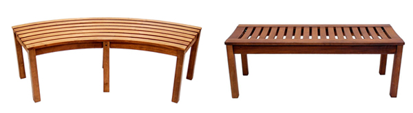 Eucalyptus Outdoor Slatted Benches