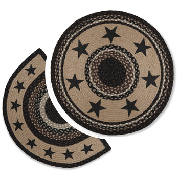 Ebony Stars Braided Rugs | Sturbridge Yankee Workshop