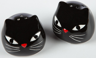 Black Cat Salt & Pepper Shakers | Sturbridge Yankee Workshop