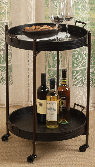 Removable Tray Bar Cart | Sturbridge Yankee Workshop