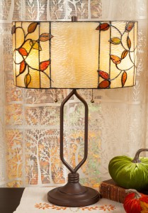 Royal Stained Glass Leaf Lamp