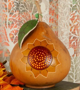 Sunflower Gourd Accent Lamp