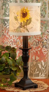 Vintage Sunflower Accent Lamp