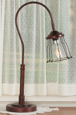 Adjustable Cage Table Lamp | Sturbridge Yankee Workshop