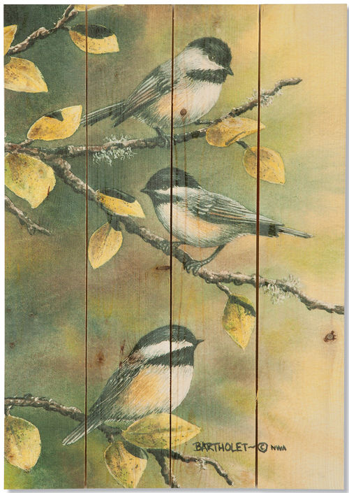 Bartholet's Three Chickadees Print | Sturbridge Yankee Workshop