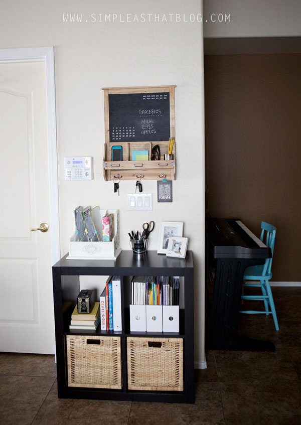 Budget Friendly Family Command Center | DIY | Simple As That Blog