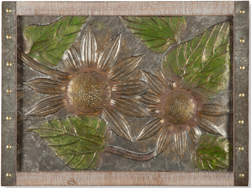 Embossed Metal Sunflower Wall Art | Sturbridge Yankee Workshop