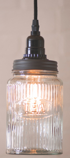 Glass Tea Jar Pendant