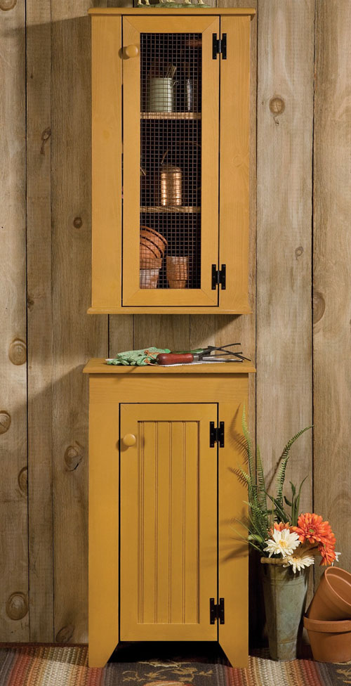 Jelly Cupboard & Hutch Set | Rustic Country Collection | USA | Sturbridge Yankee Workshop