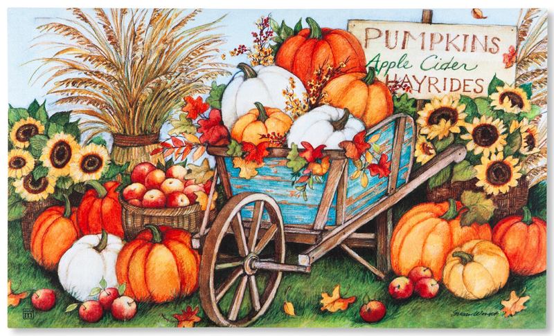 Pumpkin Garden Doormat | Sturbridge Yankee Workshop
