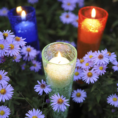 Garden Votive Sparkle Cones Set