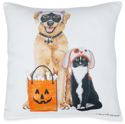 Dog & Cat Trick or Treaters Pillow | Mary Lake Thompson | Sturbridge Yankee Workshop