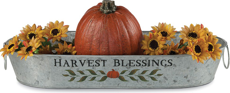 Harvest Blessings Tin Tray | Sturbridge Yankee Workshop