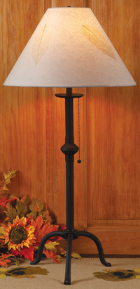 Leafy Shade Iron Table Lamp | Sturbridge Yankee Workshop