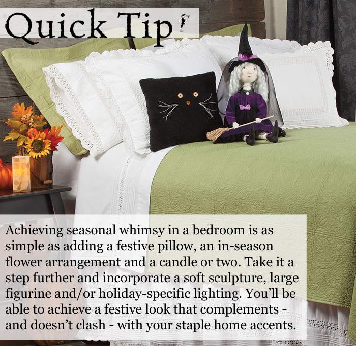 Quick Tip: Holiday Decorating in a Bedroom (Halloween)