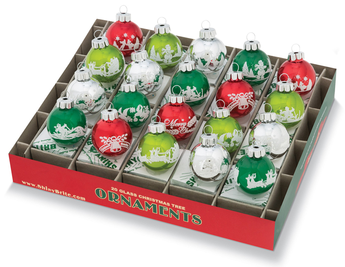 Holiday Splendor Small Flocked Ornaments | Shiny-Brite