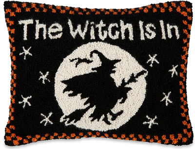 The Witch Is In Hooked Wool Pillow | Sturbridge Yankee Workshop
