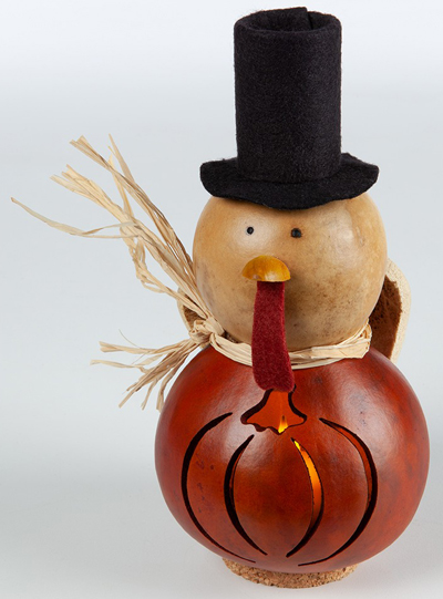 Turkey Gourd Tealight Holder | Sturbridge Yankee Workshop